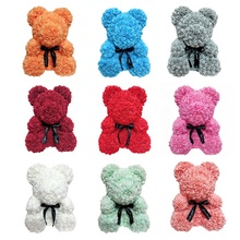 Wholesale valentine gift High Quality hot sale bear flower rose bear