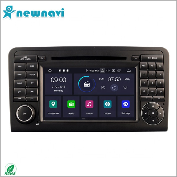 7 inch <strong>Android</strong> 9.0 double din car radio with gps navigation/ reverse camera/ BT for Mercedes-Benz ML 320/ML 350/<strong>W164</strong>
