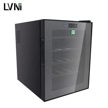 LVNI 20 bottles black electric thermoelectric mini wine fridge chiller