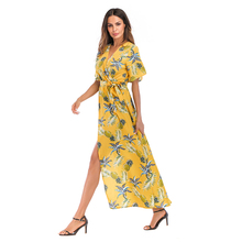 Maxi floral dress ladies long casual dresses pictures