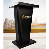 Easy Install School Supplies Clear Acrylic Church Podium Customized Transparent Table top Teacher Lecterns