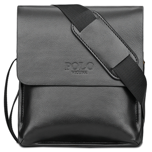 VICUNA POLO Brand China Suppliers Classic Fashion Crossbody Bag Wholesale Low MOQ Soft PU Leather Black Messenger Men Sling Bag