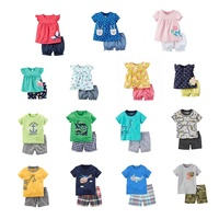 Wholesale Baby Clothes Sets Short Sleeve T-shirt+Pants 2 pieces Summer