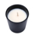 10oz wholesale matte black glass candle jar