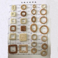 Natural and colored Rattan Jewelry Accessories Rattan Earring Findings for Jewelry Making