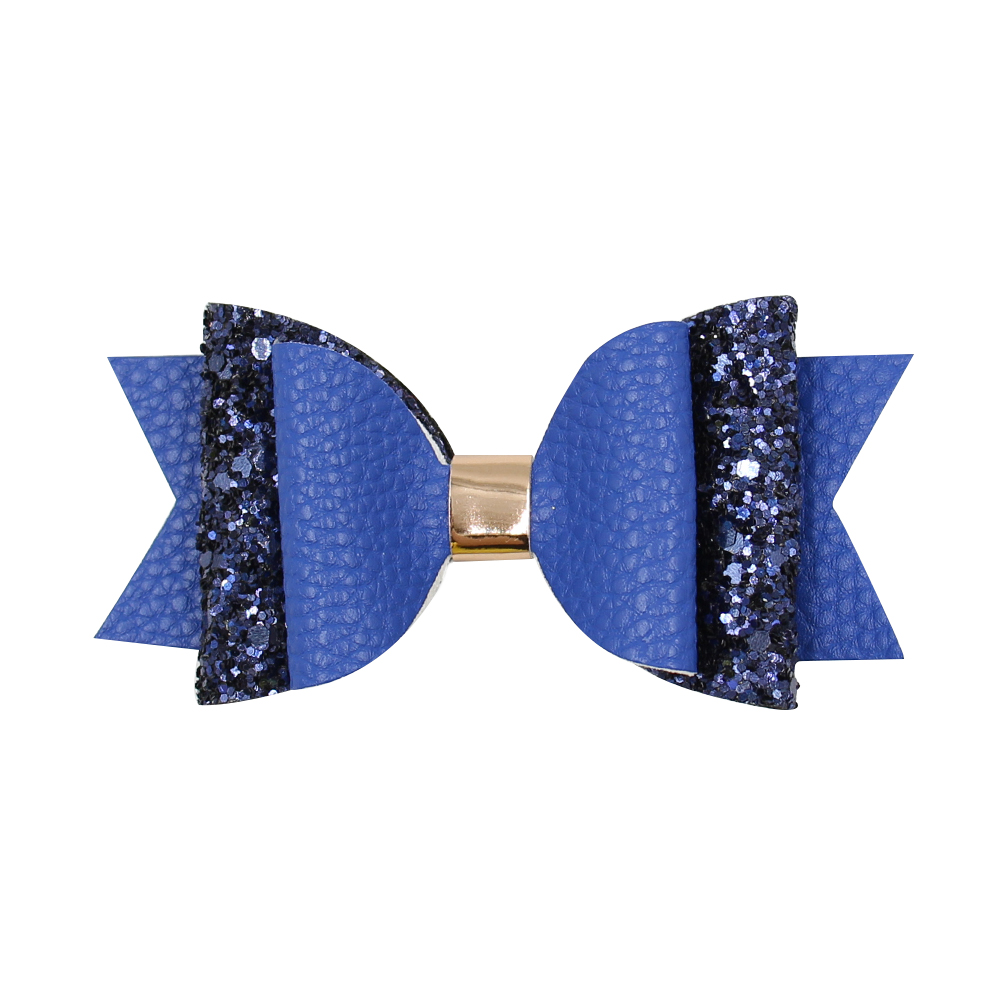 2019 New <strong>product</strong> multi color kids accessories glitter hair bow clip