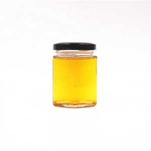 120ml 3oz storage honey hexagon custom glass jar