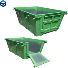 Customized Industrial Steel Waste Skip Bin with Lid