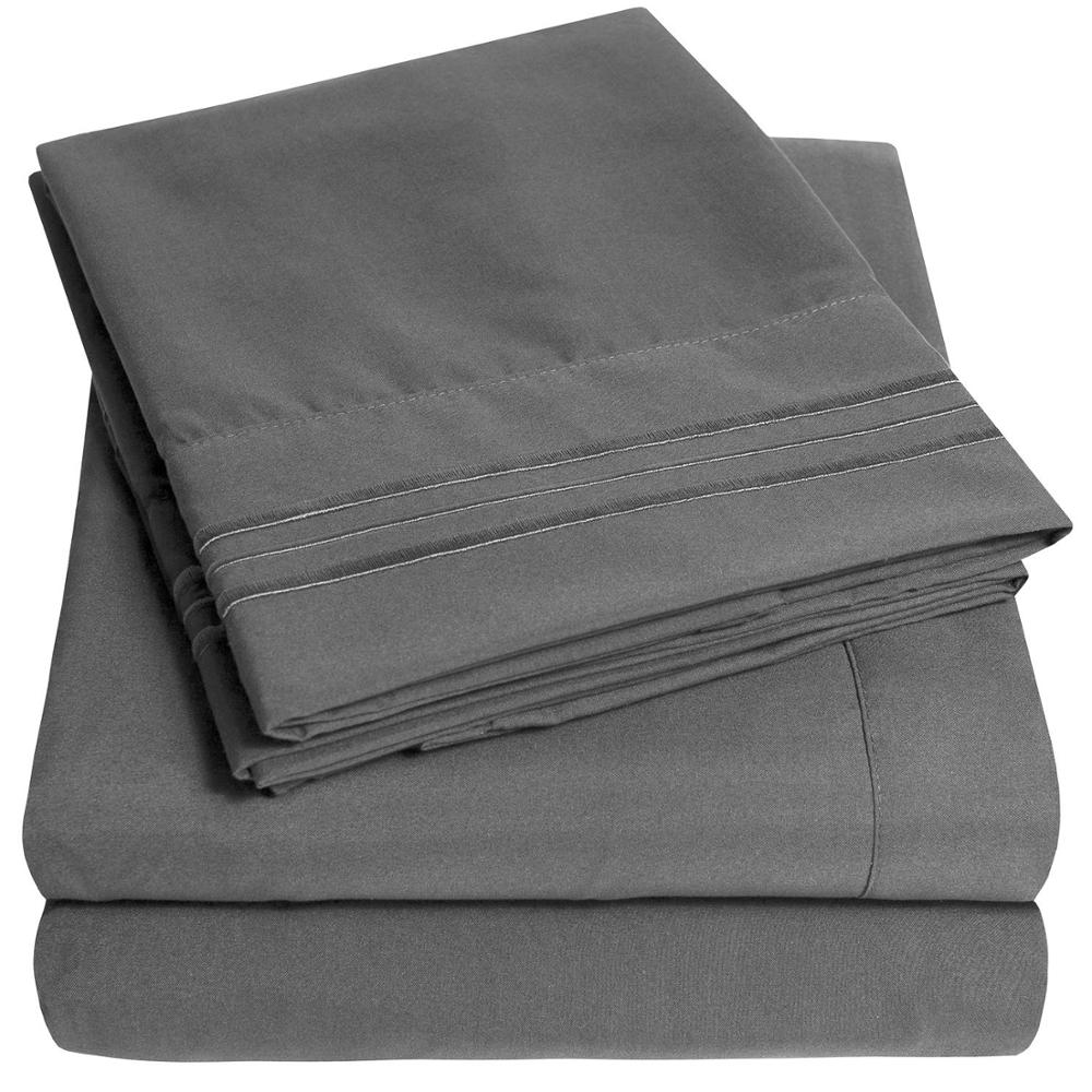 1500/1800 Extra soft brushed microfiber sheet <strong>sets</strong> with deep pocket