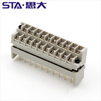PLC Double Row Pluggable Terminal Block16 32 48 64 point 7.62mm connector