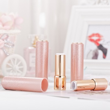 Fashion round gold pink OEM portable cheap empty lipstick tube