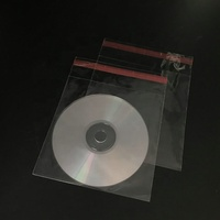 Clear Cheap Packaging Small MOQ Polybags Transparent DVD Sleeves Opp