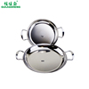 /product-detail/hotel-product-double-handles-seafood-paella-stainless-steel-non-stick-frying-pan-62115607347.html