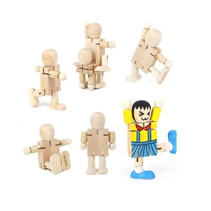 Educational Preschool Wooden Toy decorate your own wood craft wood robot