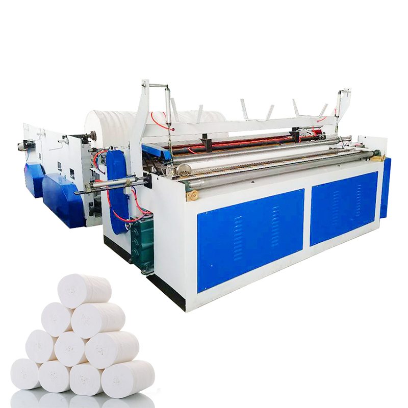 Raw Material Wood Pulp Hot Sale Toilet Paper Rewinding Machine For Making Tissue Paper