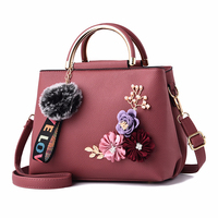 2019 new fashion leather college girls fashion handbags lady shoulder bags