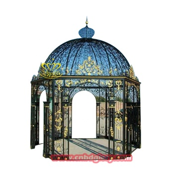Outdoor garden ornaments metal crafts iron Gazebo roof