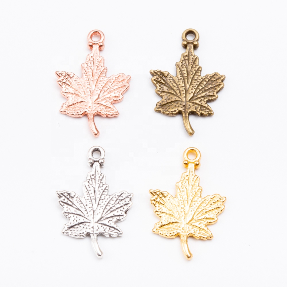 wholesale Custom maple leaf <strong>charms</strong> vintage fashion maple leaf <strong>charm</strong> pendant for jewelry accessories