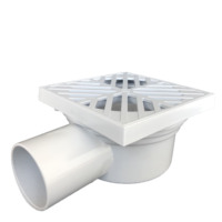 Hot selling plastic drainage fittings pvc anti odor bathroom floor shower auto trap roof drain