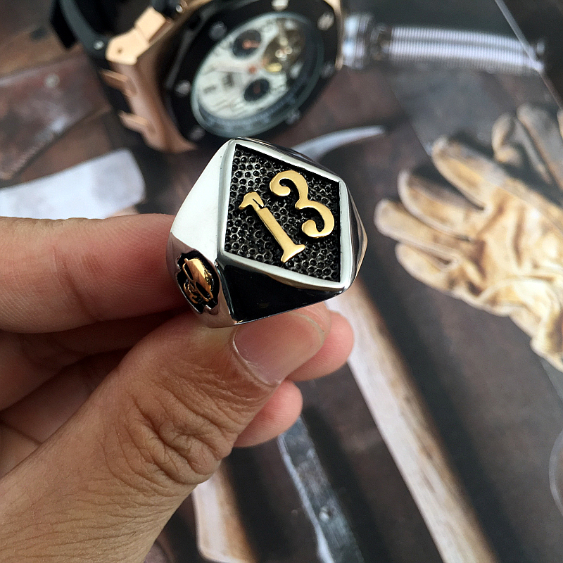XULIN Stainless steel Biker 13 <strong>Ring</strong> Mens Motorcycle Biker Party Polishing Men Cool Silver <strong>Rings</strong>