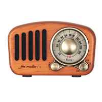 OEM New Vintage Radio Retro Bluetooth Speaker Cherry Wooden FM Radio with Old Fashioned Classic Style, Strong Bass Enhancement