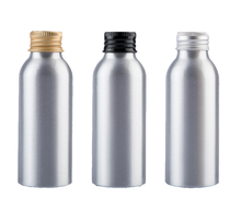 30ml 50ml <strong>100</strong> ml 120ml 150ml 250ml wholesale silver aluminum bottle with screw cap