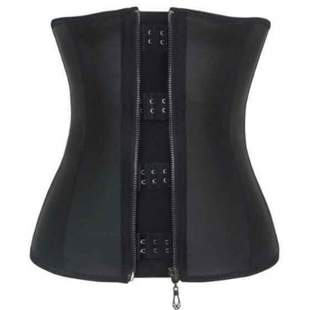 Latex Waist Trainer Cincher Zip&Hook Tummy Control Shapewear Women 9 Steel Boned Corset Plus Size