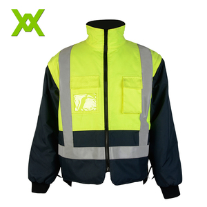 High visibility mens reflective jackets hi vis workwear work jacket