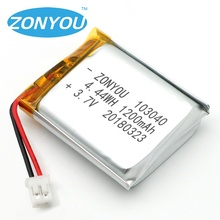 SZ Rechargeable 103040 1200mAh 3.7V 4.44Wh Li-ion Lithium Ion Polymer Lipo Batteries Battery for Headlamp