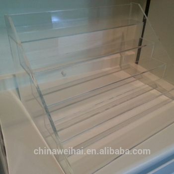 Yiwu OEM acrylic stair step display