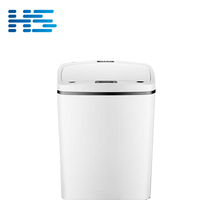 Cheap price sensor garbage recycle can plastic touchless waste bin white