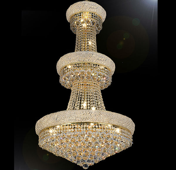 Luxury Gold Crystal Empire Modern Chandelier Pendant Lighting Lamp
