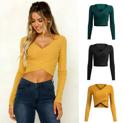 2018 Autumn and winter Long sleeve sexy women sweaters European and American Women Fashion Sweaters