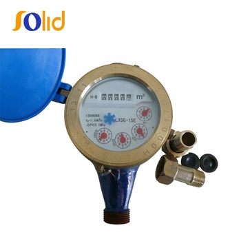 Iron body multi jet dry/wet type water meter