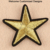 W1113 Factory wholesale star design heat transfer small heat transfer embroidery patch in bulk