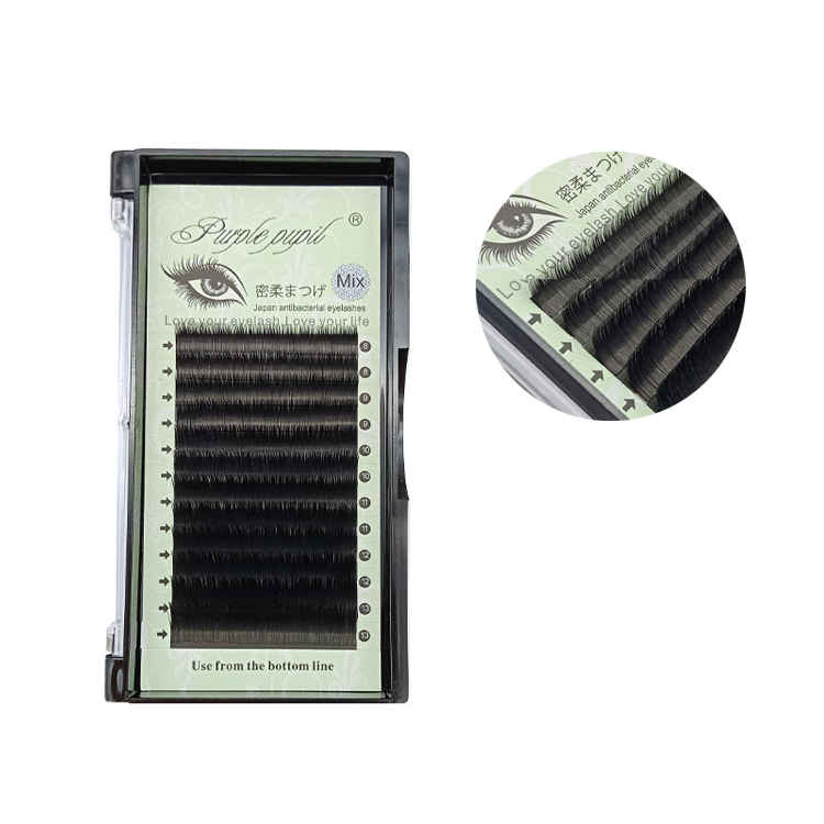 8-13mm Mix Natural Faux Mink Individual Eyelashes Thickness <strong>0</strong>.15 / <strong>0</strong>.2mm False Lash Extension Eyelash Extension Private Label