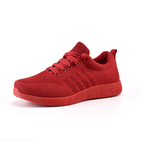 prompt goods lady girl fashionable red sports running sneakers China women shoes casual 2019 summer outdoor wholesaling dropship