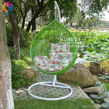 Wholesale Outdoor Round Rattan Swing Hanging Egg shaped Chair