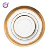 KQ0019 Bone China gold rim wedding ceramic dinner plate sets