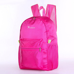 Wholesale Foldable Pure Color Foldable Waterproof Backpack Traveling Hiking Foldable Backpack