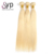 Cheap Brazilian 613 Blond Straight 100 Human Hair Bundles Extensions With 13x4 Lace Frontal Closure