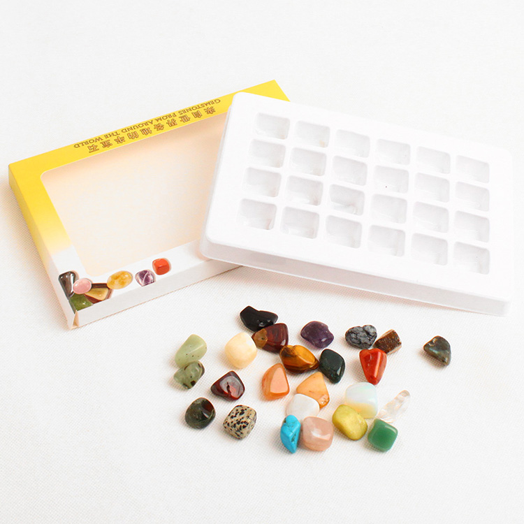 Yase semi-precious child business gifts rock stone gift box set on sale novel gift of stone novel toy rock stone low price