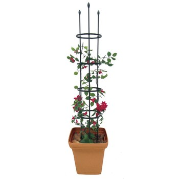 High quality Multi-Functional small square metal garden trellis for pots