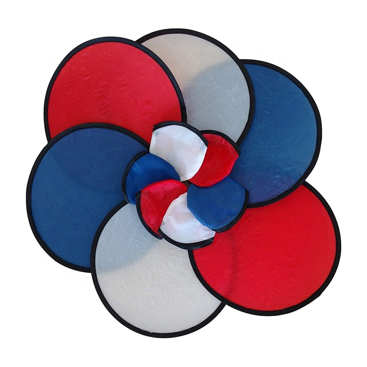 Promotional Custom Color Nylon/Polyester Folding Fan Soft Flying Disc