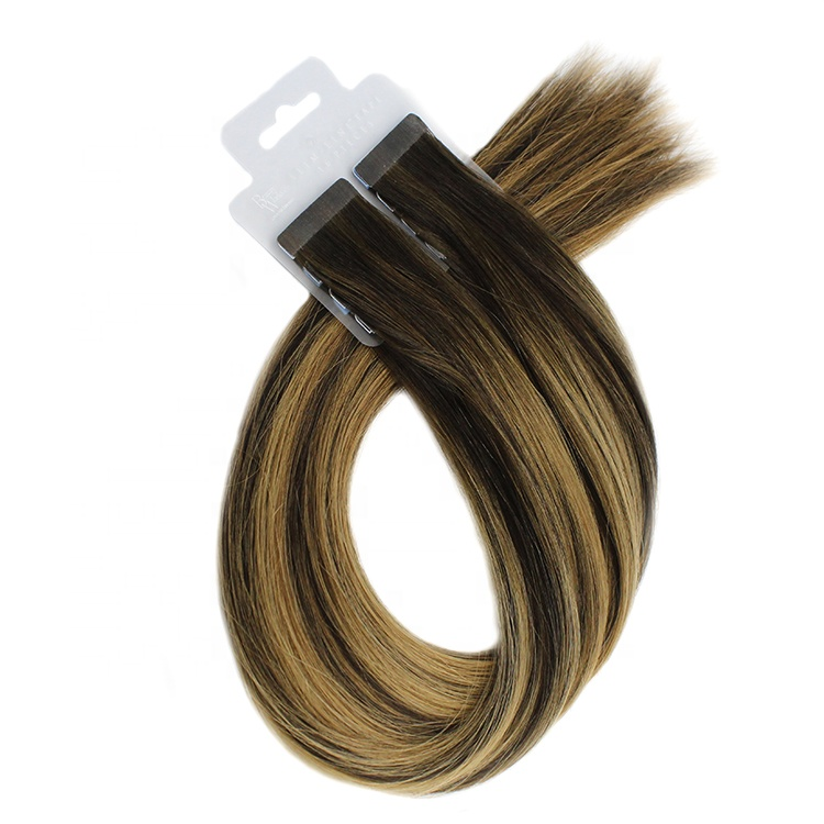Wholesale 9A Russian Remy Extensions Double Drawn Tape In Hair Extensions Virgin Human Tape Hair