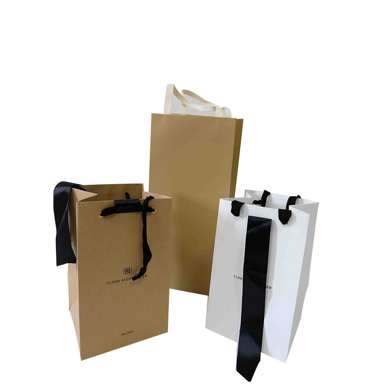 Personality custom gift paper bag shopping bag with handle