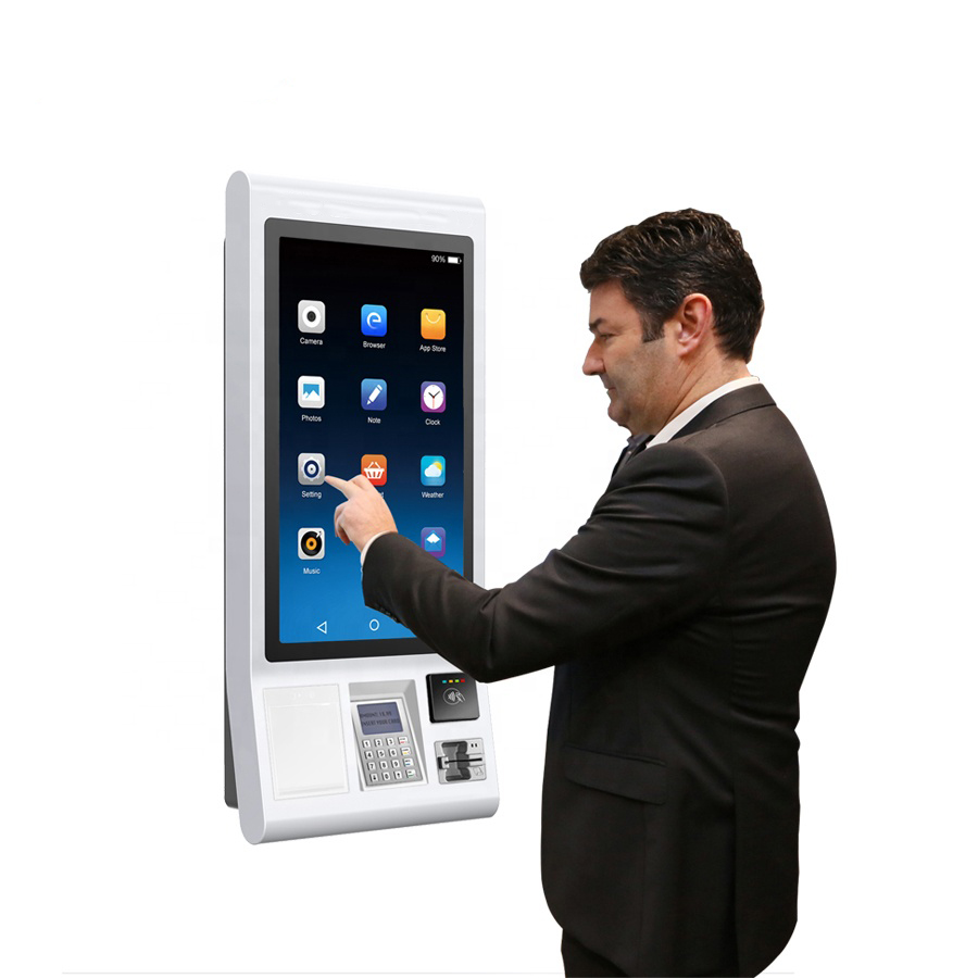 32 Inch Credit Card Vending Machine, Self Service Interactive Kiosk Touch Screen Bill Payment Kiosk