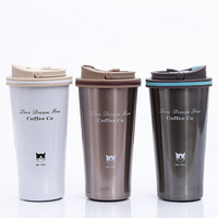 Online Shop 500ml 304 Stainless Steel Thermo Cup Travel Coffee Mug with Lid Car Water Bottle Vacuum Flasks Thermocup for Gift