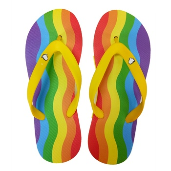 Promotional oem logo fashion wholesale eva flip flops slippers for women