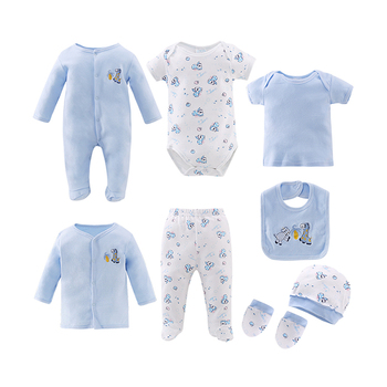 Wholesale Summer Bodysuit Romper Newborn Cotton Baby Boys Girl Clothes Gift Set Baby Clothing Sets